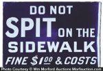 Do Not Spit On Sidewalk Sign