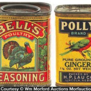 Vintage Bird Spice Tins