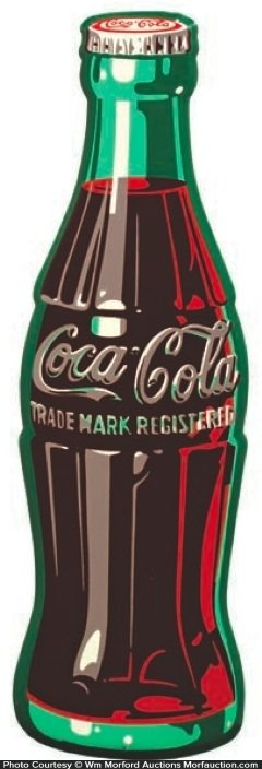 1950's Coca-Cola Bottle Sign