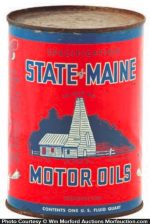 State Of Maine Oil Can