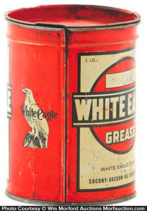White Eagle Grease Can