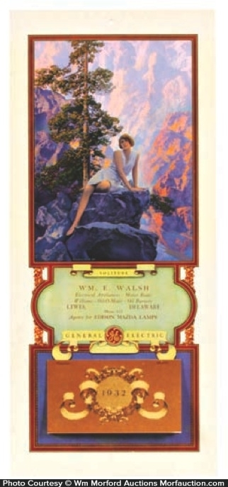Maxfield Parrish Solitude 1932 Calendar