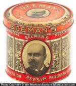 Beeman's Pepsin Gum Tin
