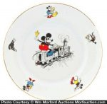 Mickey Mouse Train Plate
