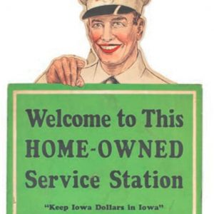 Iowa Service Station Sign