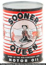 Sooner Queen Motor Oil Can