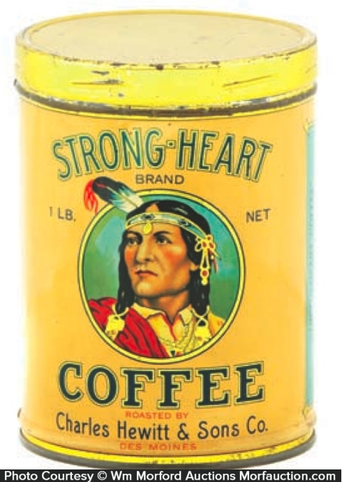Strong-Heart Coffee Can