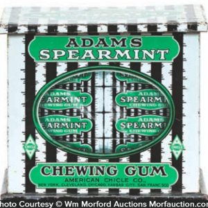 Adams Spearmint Gum Tin