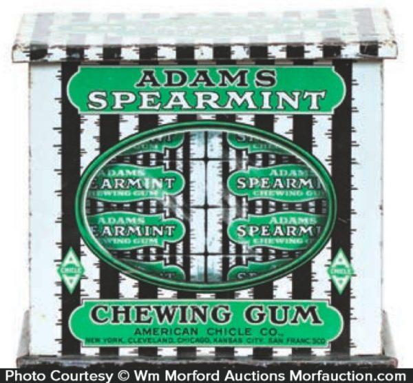Adams Spearmint Gum Tin
