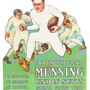 Munsingwear Football Sign