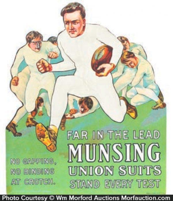 Munsingwear Football Sign
