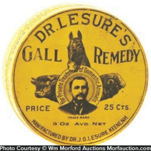 Dr. Lesure's Gall Remedy Tin