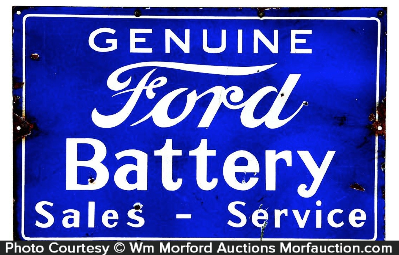 Genuine Ford Battery Sign
