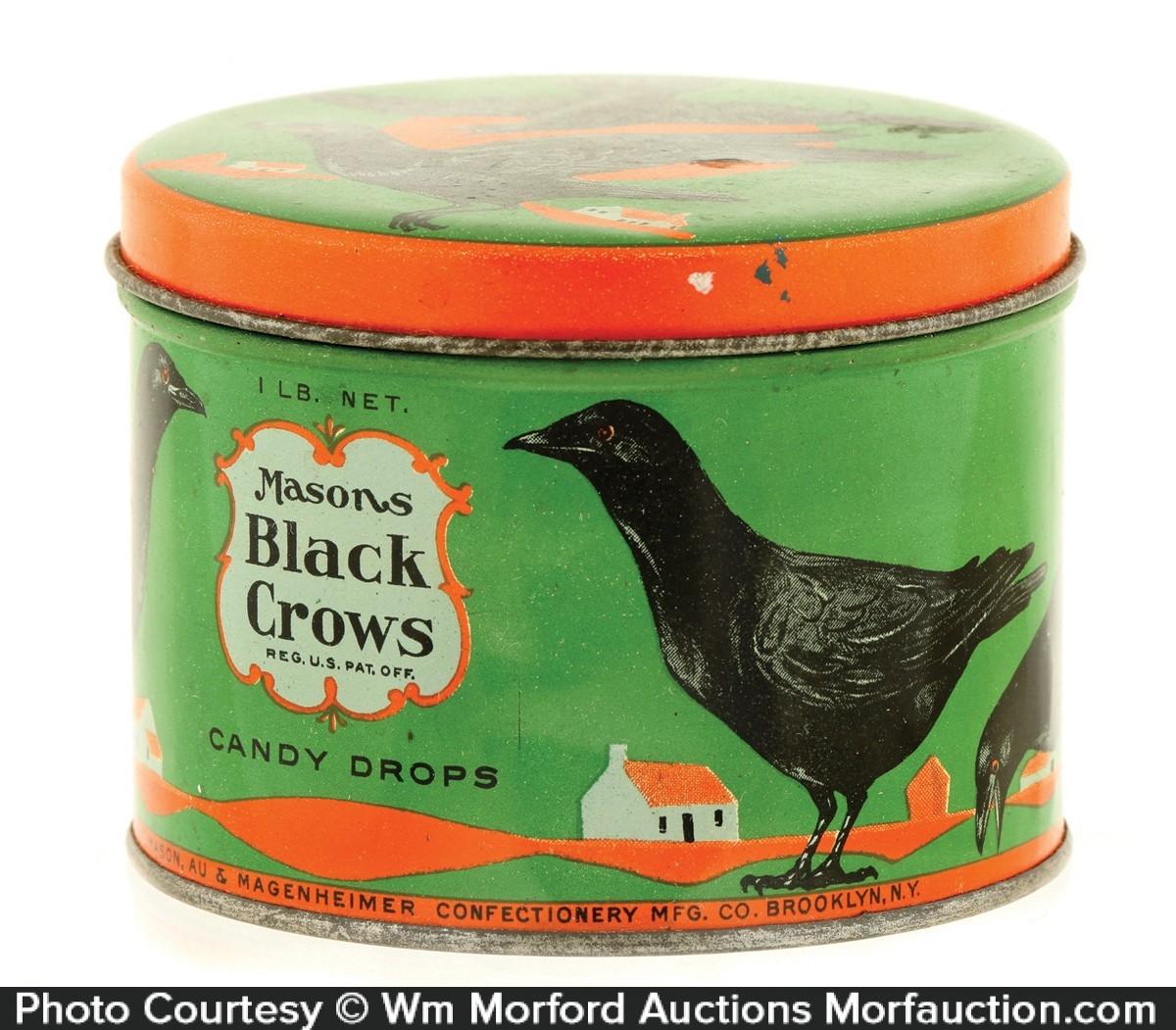 Mason's Black Crows Candy Tin