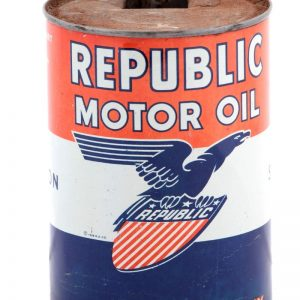 Republic Motor Oil Can