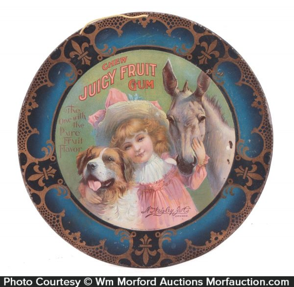 Juicy Fruit Gum Art Plate Tray