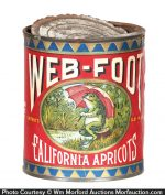 Web-Foot Apricots Tin