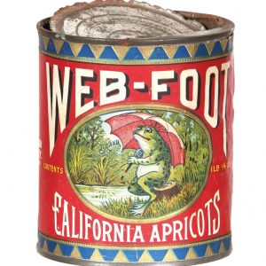 Web-Foot Apricots Tin