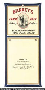Hankey's Farm Boy Bakery Sign