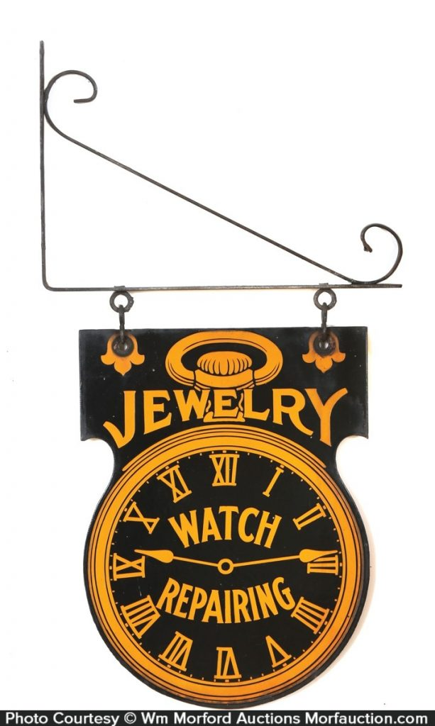 Jewelry Porcelain Sign
