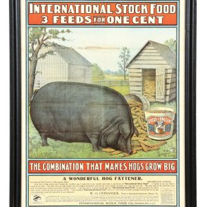 International Stock Food Hog Poster