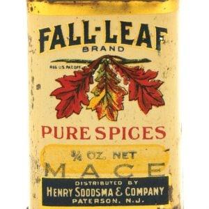 Fall-Leaf Spice Tin