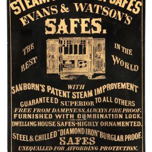 Evans & Watson Safes Sign