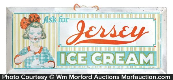 Jersey Ice Cream Sign