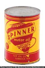 Spinner Motor Oil Can