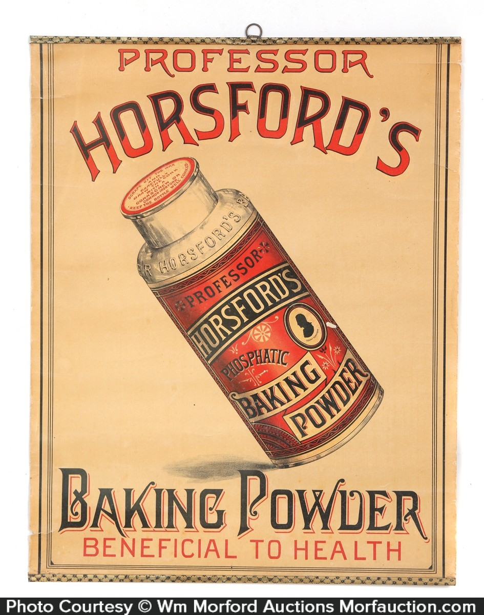 Professor Horsfords Baking Powder Sign