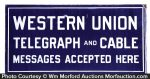 Western Union Telegraph and Cable Sign