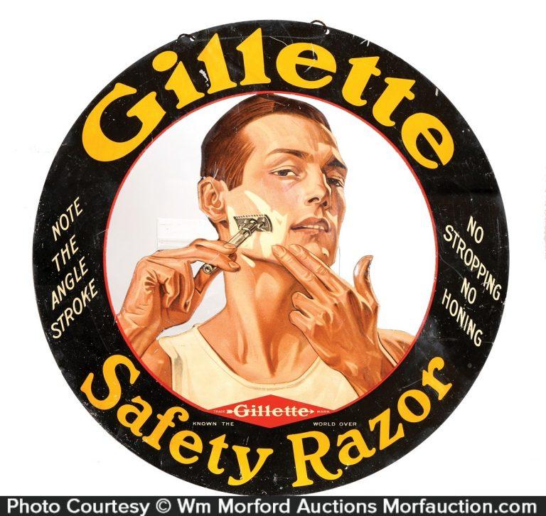 Gillette Safety Razors Sign