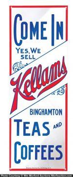 Kellams Teas and Coffees Door Push