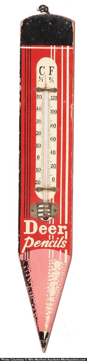 Deer Pencils Thermometer