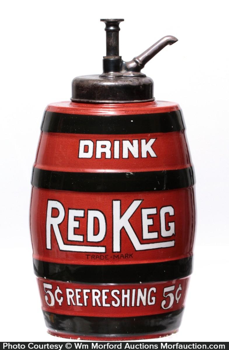 Red Keg Syrup Dispenser