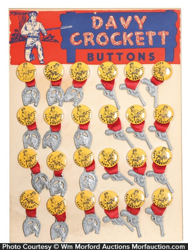 Davy Crockett Buttons