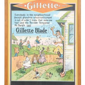 Gillette Razors Blades Sign