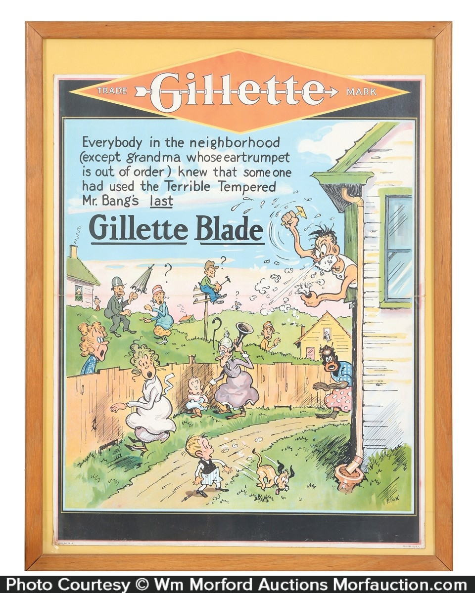 Gillette Razors Blades Sign