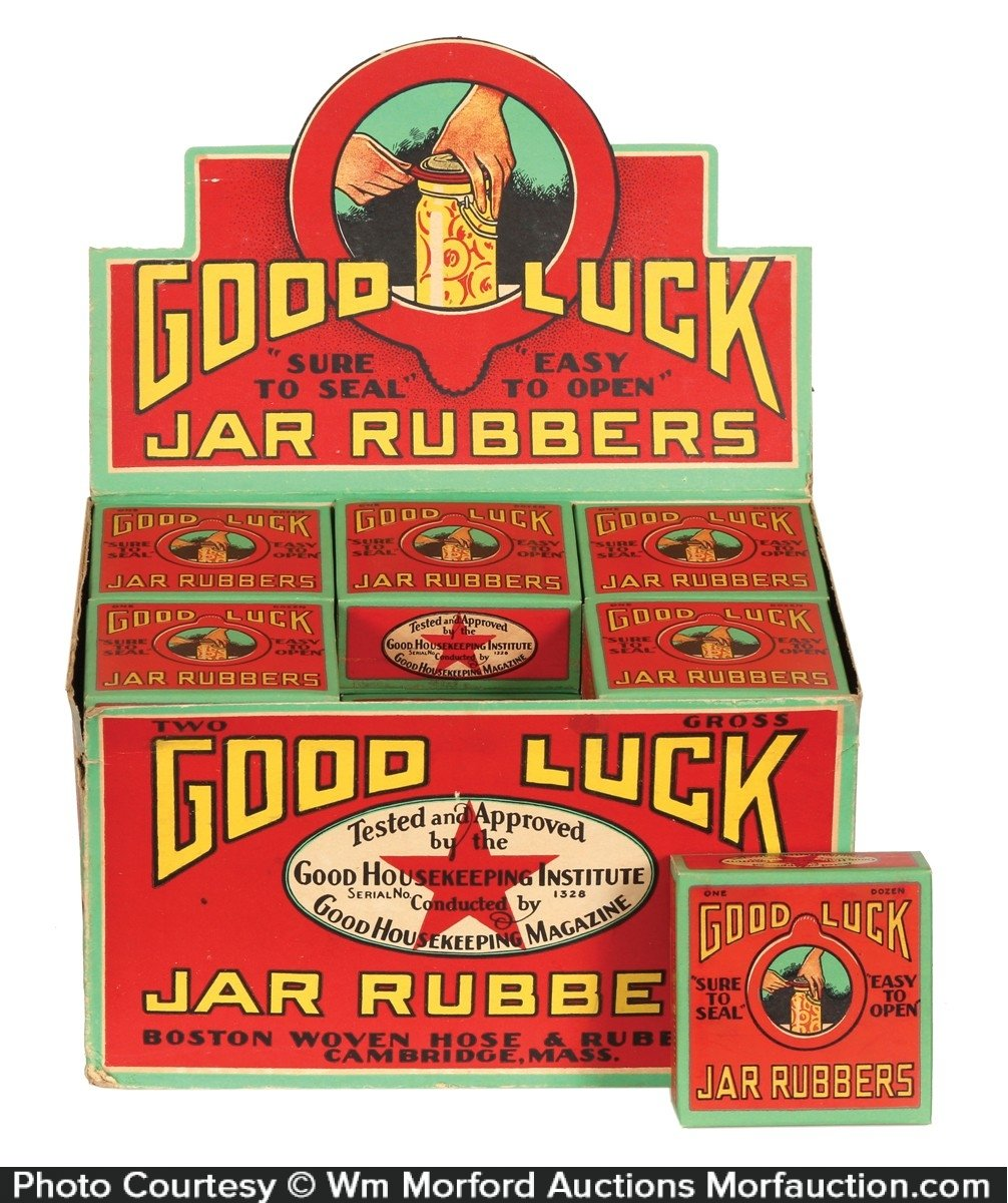 Good Luck Jar Rubbers Display