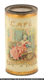 Exquisite Paris Cafe Coffee Tin