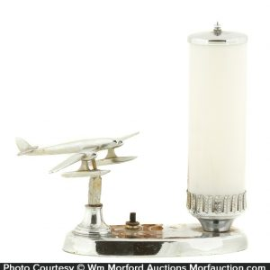 Chrome Airplane Lamp