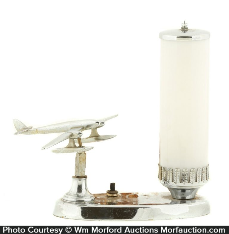 Chrome Airplane Lamp