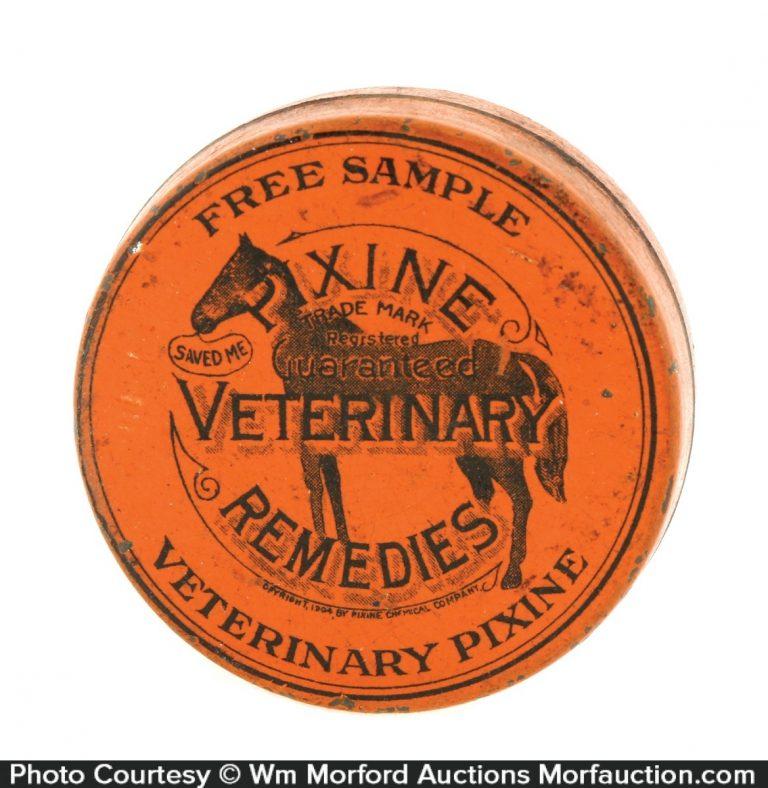 Pixine Veterinary Remedies Tin
