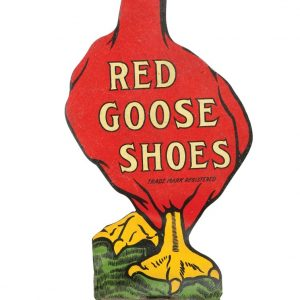 Red Goose Shoes Sign