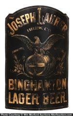 Joseph Laurer Binghampton Beer Sign