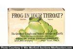 Frog In Throat Display Box