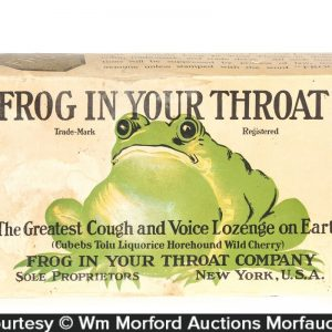 Frog In Throat Display Box