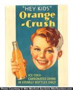 Orange Crush Hey Kids Sign