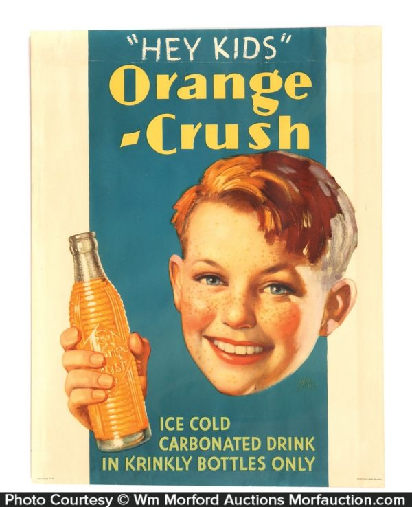 Orange Crush Hey Kids Sign