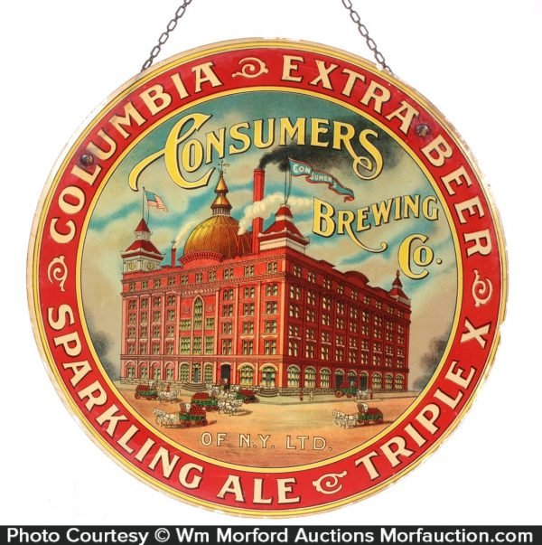 Consumers Columbia Beer Sign